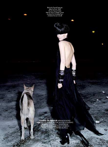 Mote fashion editorial for OFW oslo fashion week magazine, photo: Steffen Oftedal, Model: Ingerid Maske